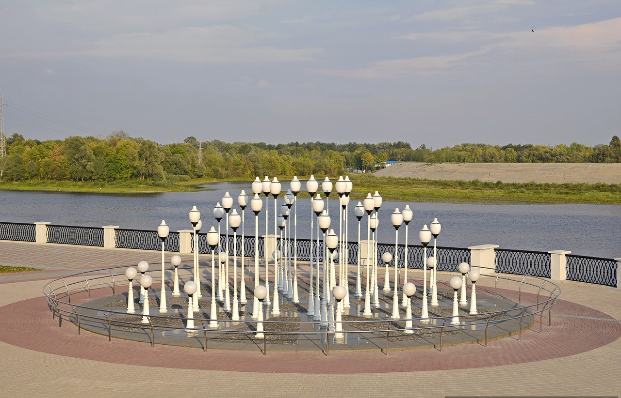 Фонтан на набережной. г. Гомель